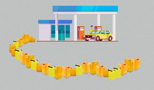 The dynamics of a Christmas fuel scarcity